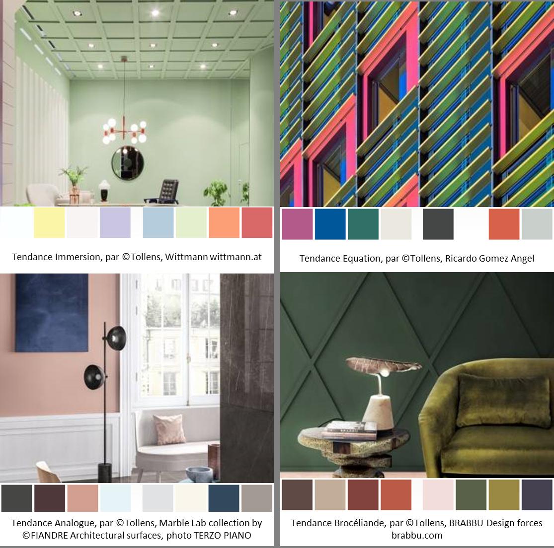 tollens 4 ambiances - tendances couleurs 2019