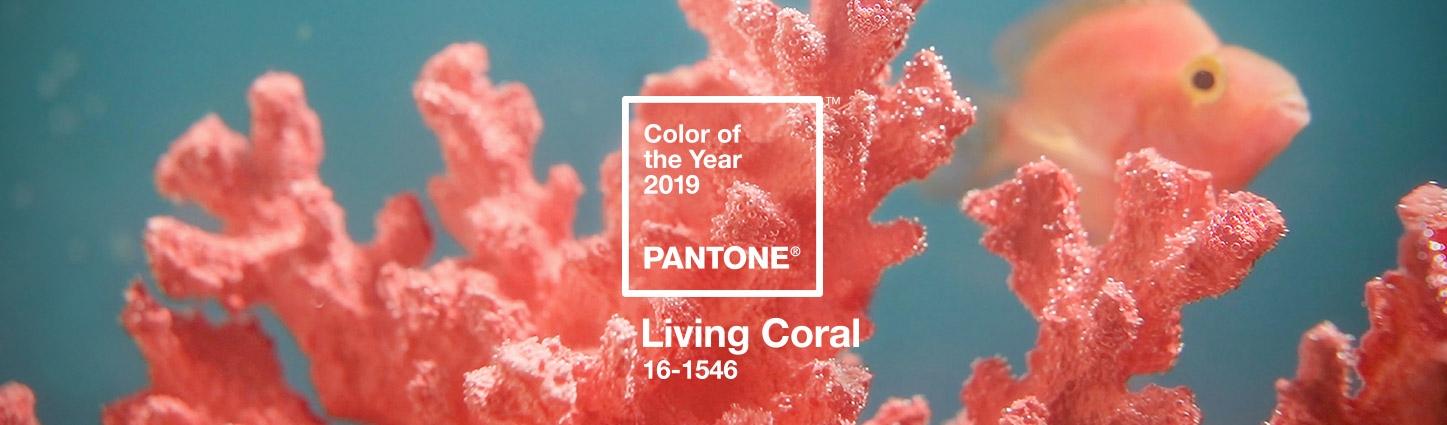 pantone living coral - tendances couleurs 2019