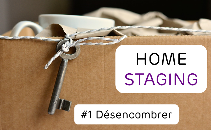 home staging desencombrer maison carton