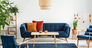classic blue canapé fauteuil décoration